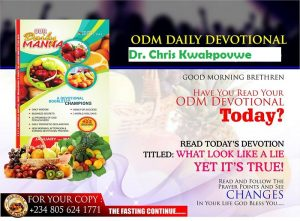 Our Daily Manna Devotional 2 February 2018