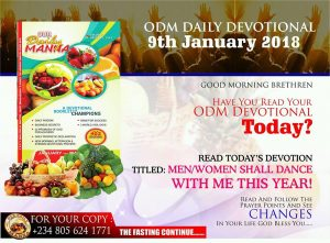 Our Daily Manna Devotional 11 February 2018