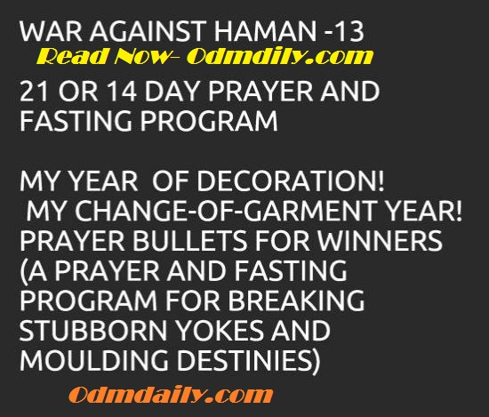 War Against Haman 13 Prayer 2018