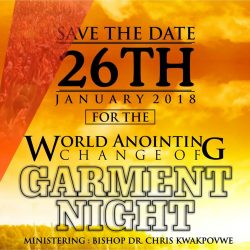 Our Daily Manna Change of Garment Night 2018