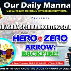 2018 SPECIAL ASABA ANOINTING SERVICE