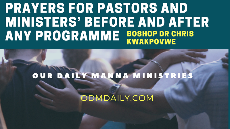 PRAYERS FOR PASTORS MINISTERS