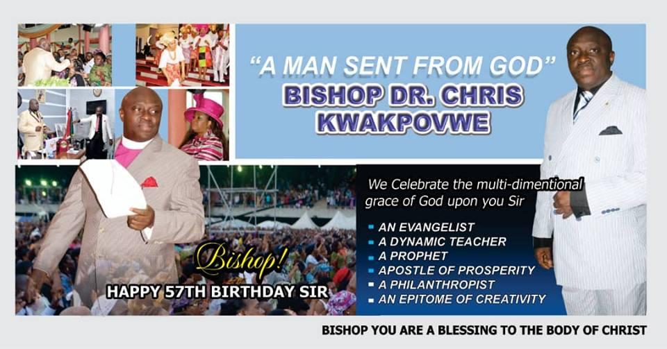 Happy 57th Birthday Dr Chris Kwakpovwe