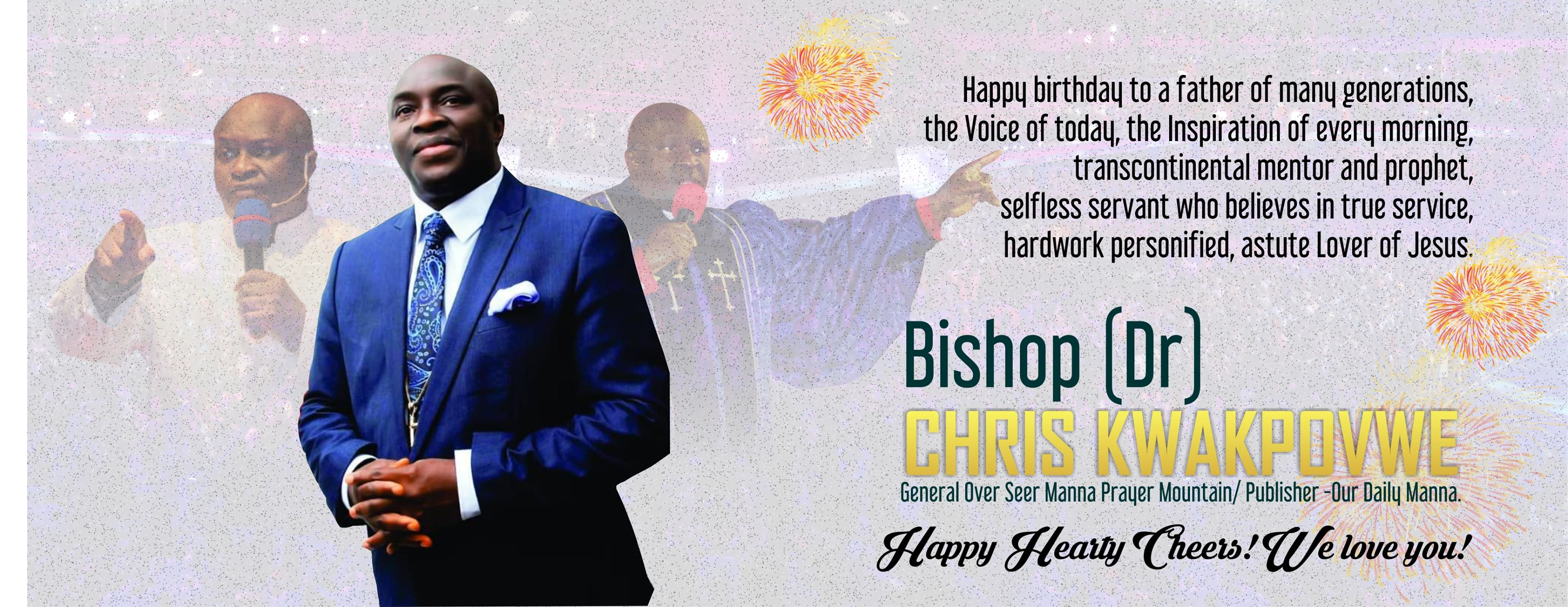 Happy birthday Bishop Dr Chris