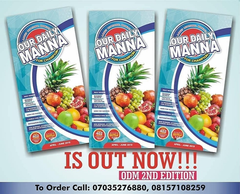 Daily Manna Today 7 April 2019